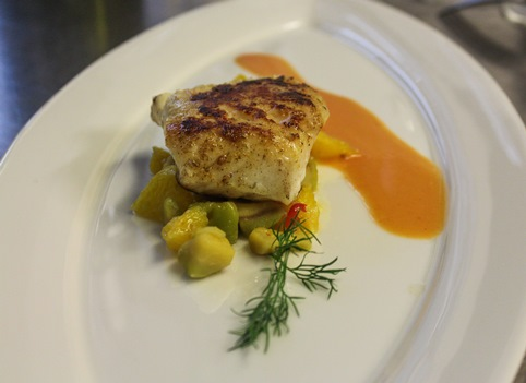 Codfish with Pine Nuts